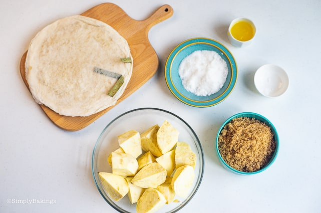 ingredients for kamote turon
