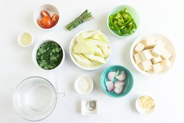ingredients for tinola manok