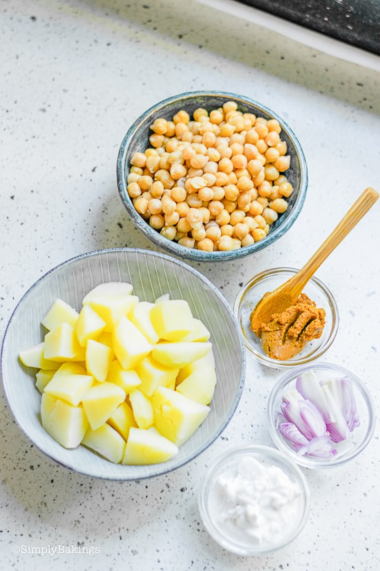 Potato Curry ingredients