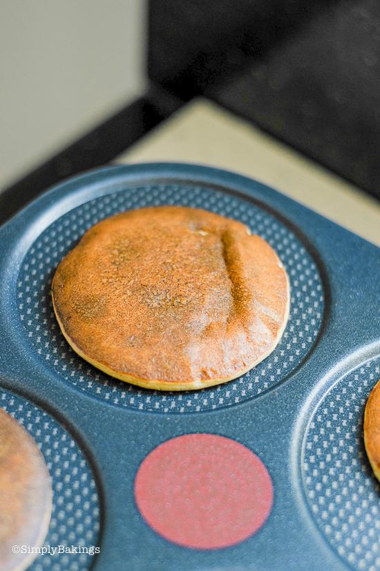 an egg free pancake cooked in a pancake machine