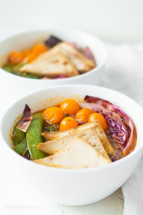 two bowls of lemongrass soup