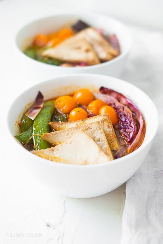 lemongrass soup in a white bowl