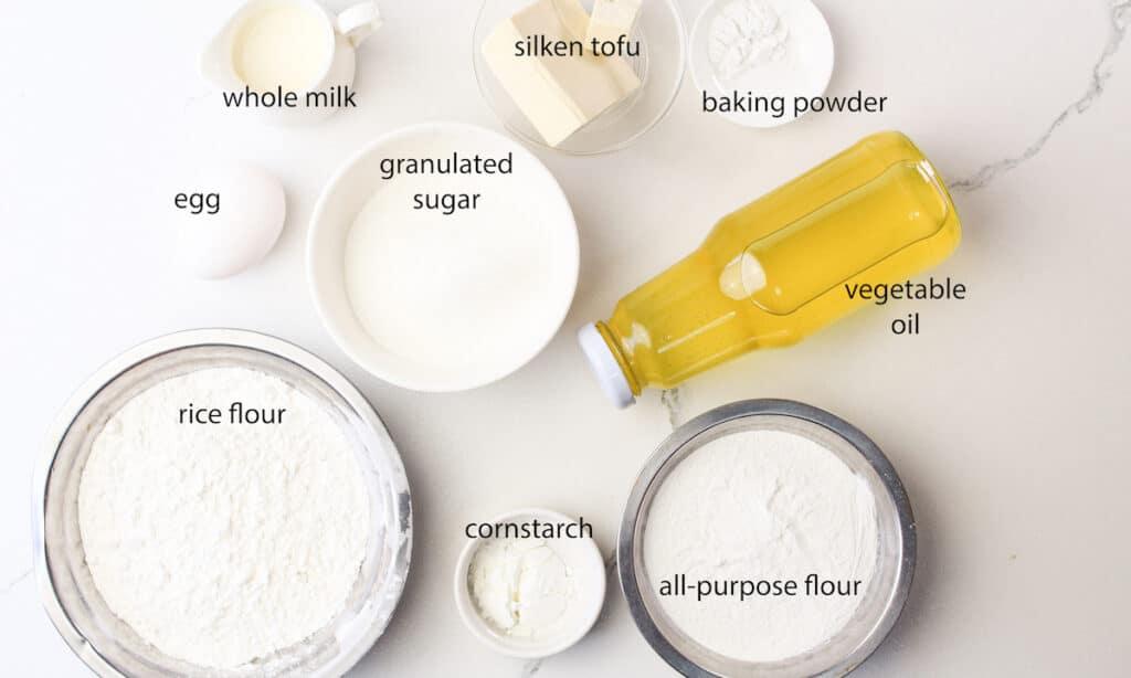 ingredients for mochi donut recipe