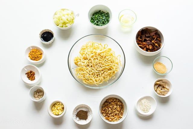 ingredients for vegan batchoy