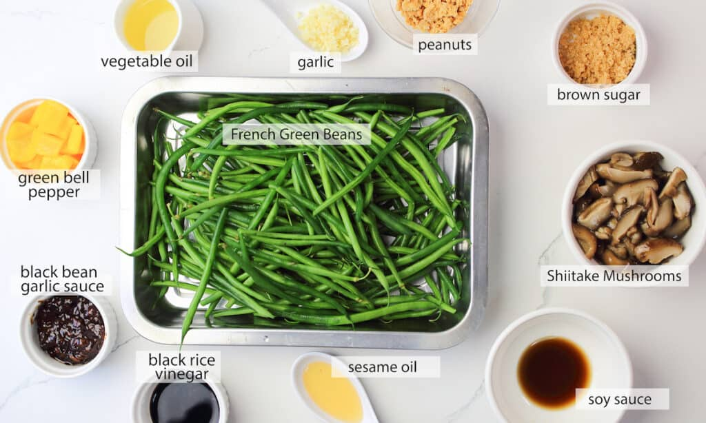ingredients for Green Beans with Black Bean Sauce recipe