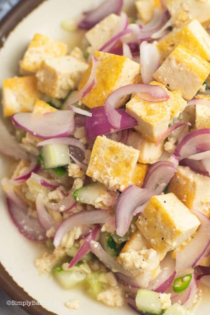 tofu kilawin on a plate