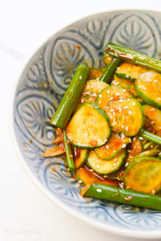 Asian Cucumber Salad in a bowl