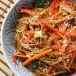 sweet potato noodle in a bowl