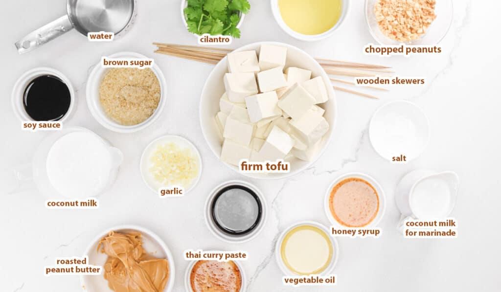Tofu Satay Ingredients