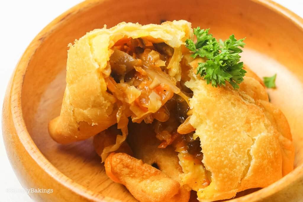 cooked empanada