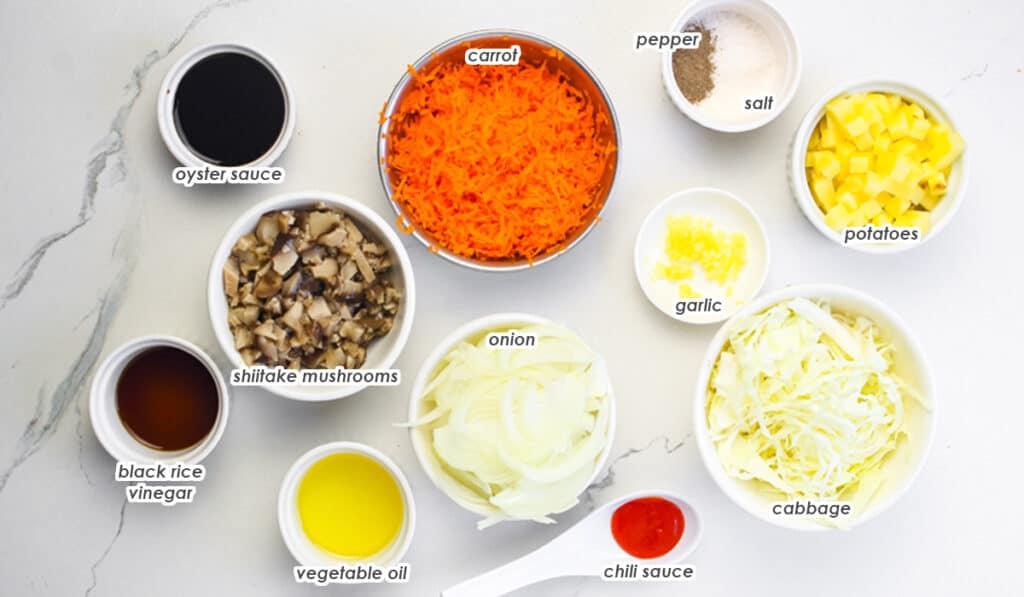 ingredients for Filipino empanada recipe
