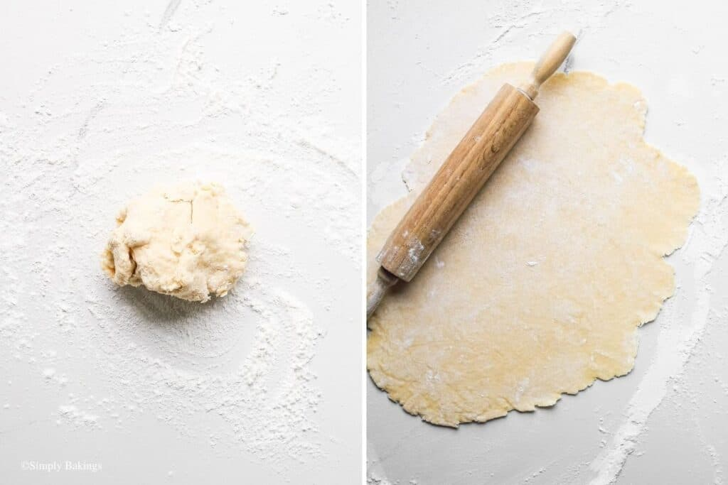 flattened the dough using a rolling pin