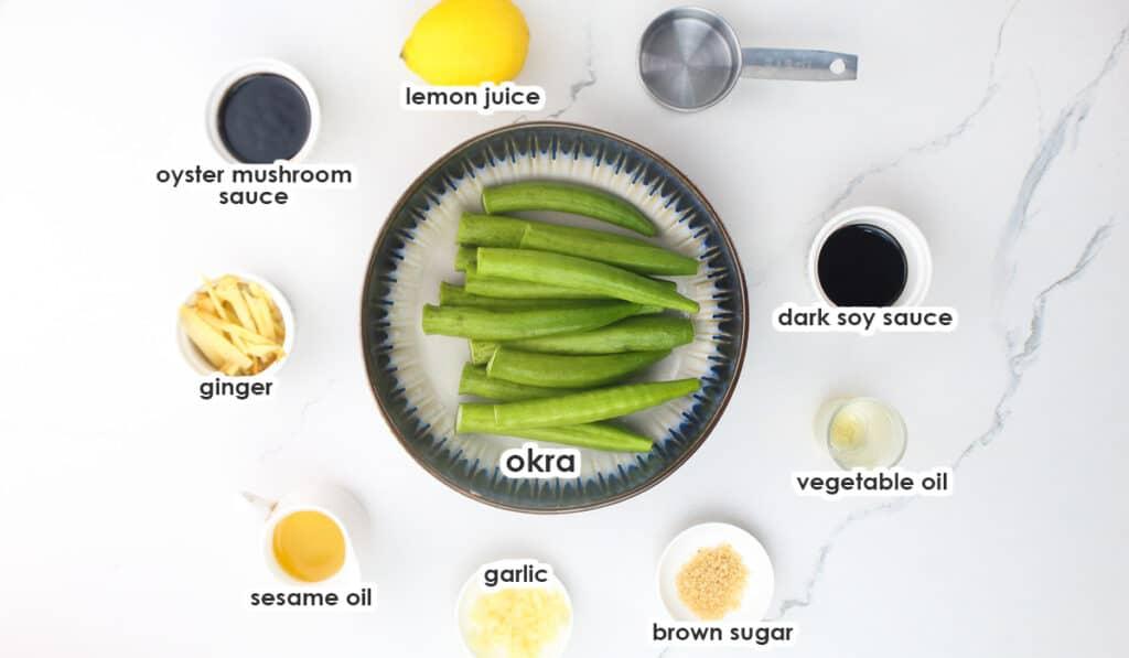 ingredients for okra recipe