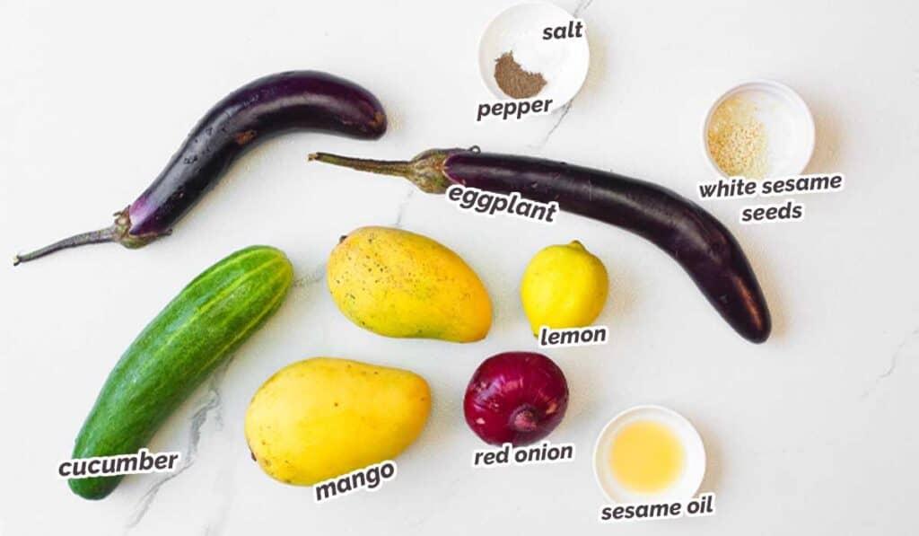 ingredients for mango salad recipe