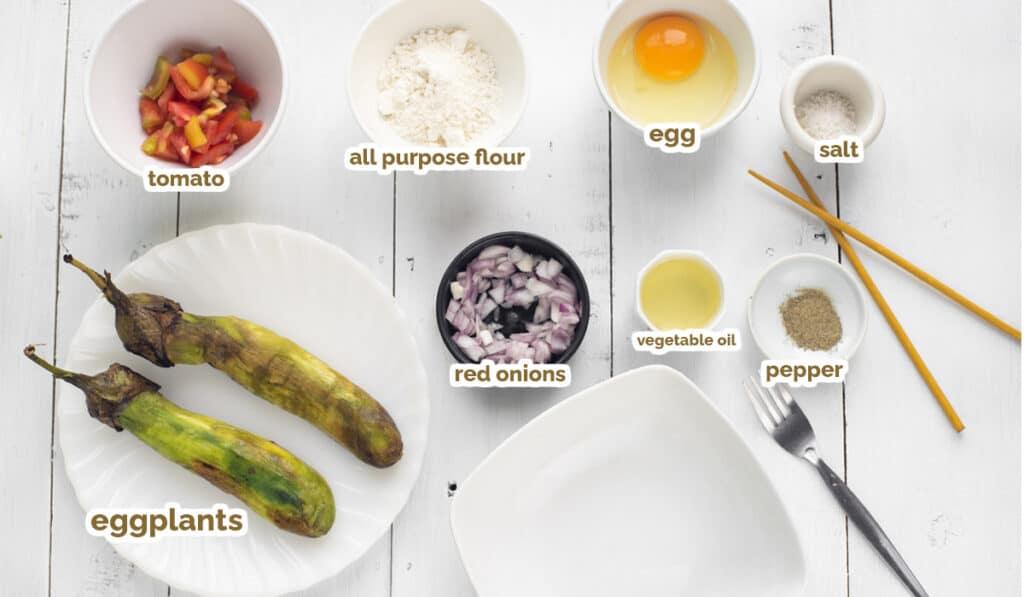 ingredients for tortang talong