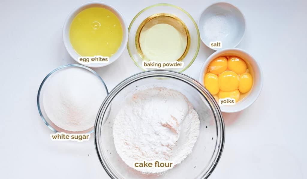 ingredients for chiffon cake recipe