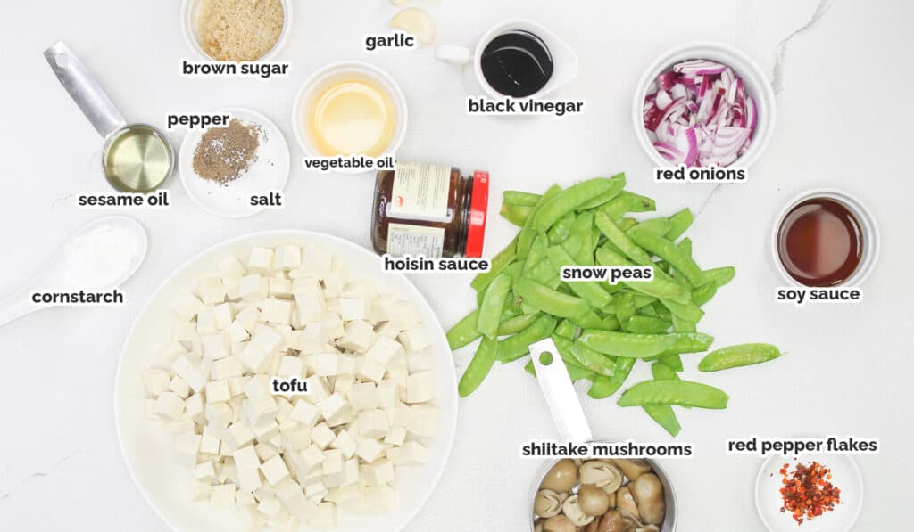 ingredients for the tofu stif fry recipe