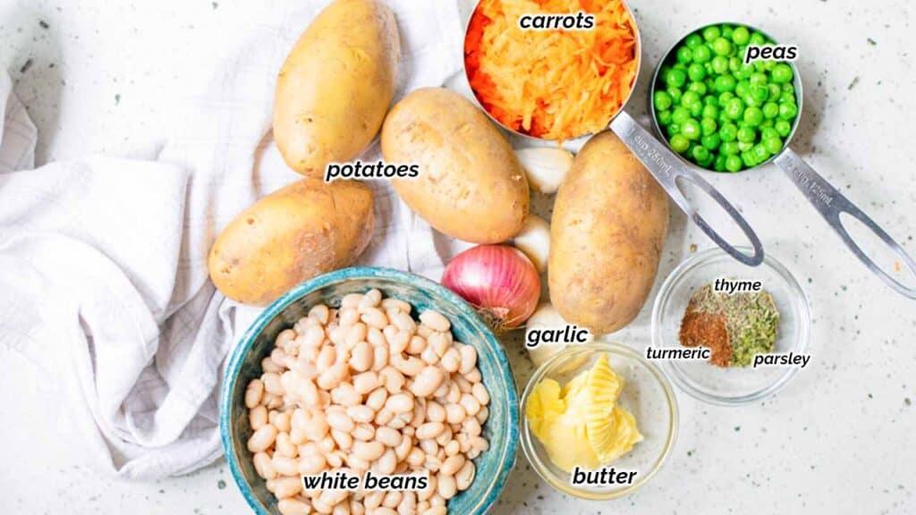 ingredients for vegan meatballs recipe